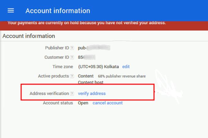 verify adsense without pin